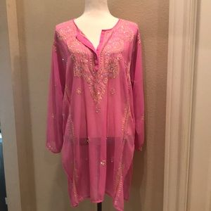 Other - Sequined, Sheer Swim Cover Up